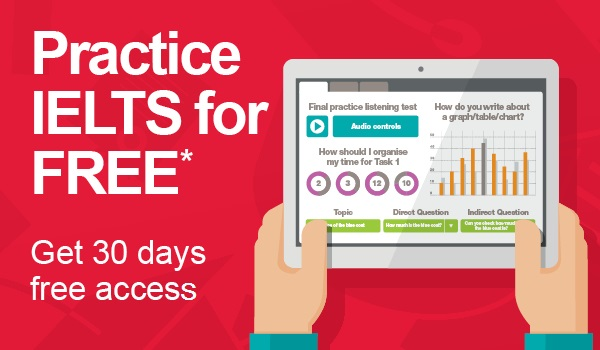 IELTS free practice for 30 days