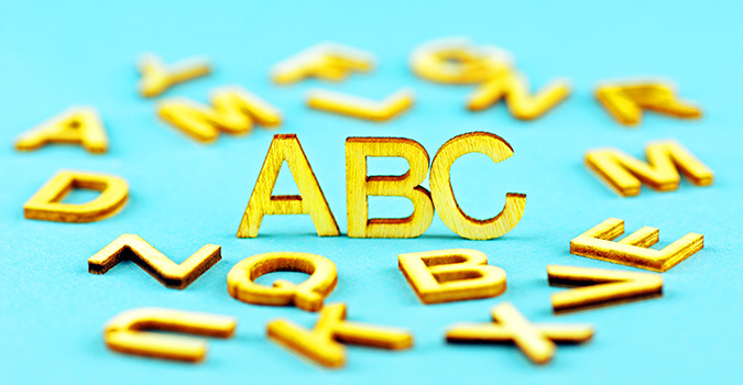 "Wooden Letters With Focus On ""ABC"""